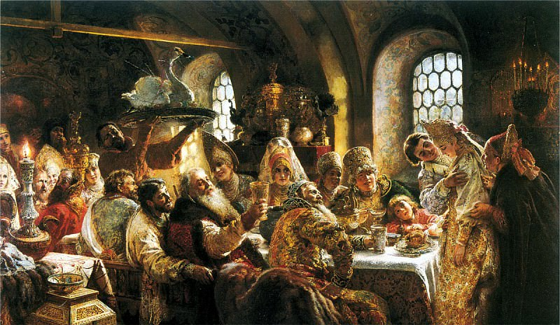 MAKOVSKY Constantine - Boyar Wedding Feast in the XVII century. 900 Classic russian paintings