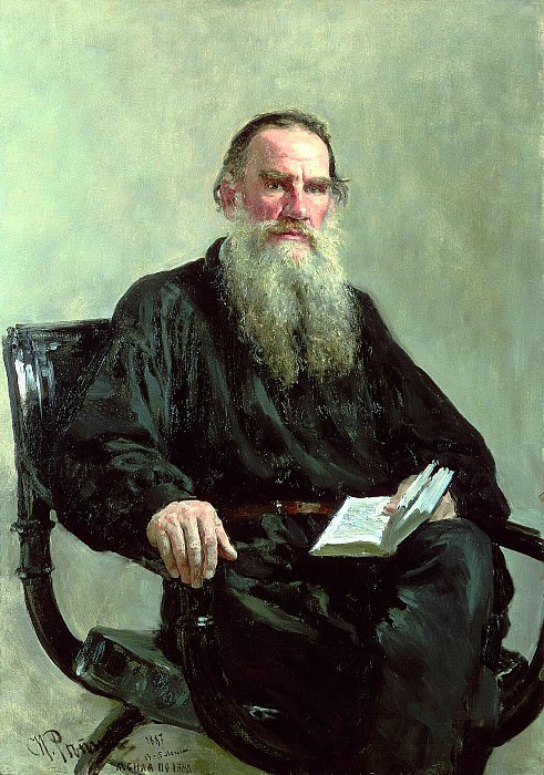 Ilya Repin - Portrait of Leo Tolstoy. 900 Classic russian paintings