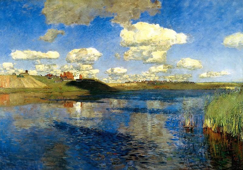 Isaak Levitan - Lake. Rus. 900 Classic russian paintings