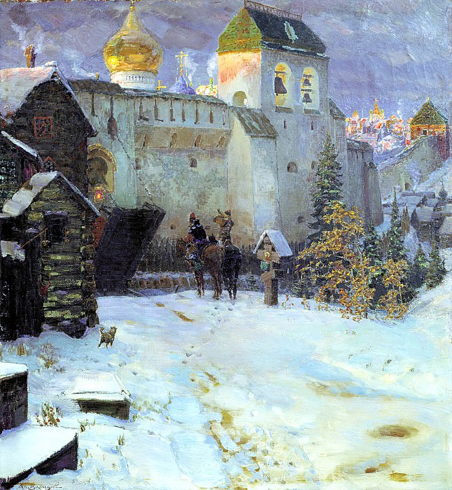 Vasnetsov Apollinary - Old Russian Cities. 900 Classic russian paintings