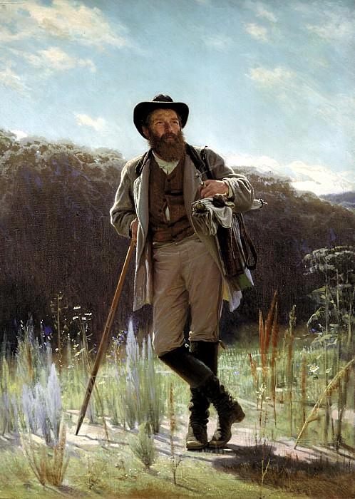 Kramskoy Ivan - Portrait of Ivan Ivanovich Shishkin. 900 Classic russian paintings