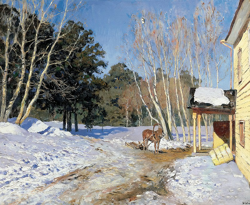 Isaak Levitan - March. 900 Classic russian paintings