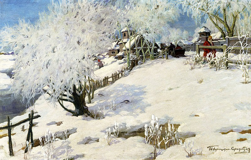 Goryushkin-Sorokopudov Ivan - the sun - summer, winter - the cold. 900 Classic russian paintings