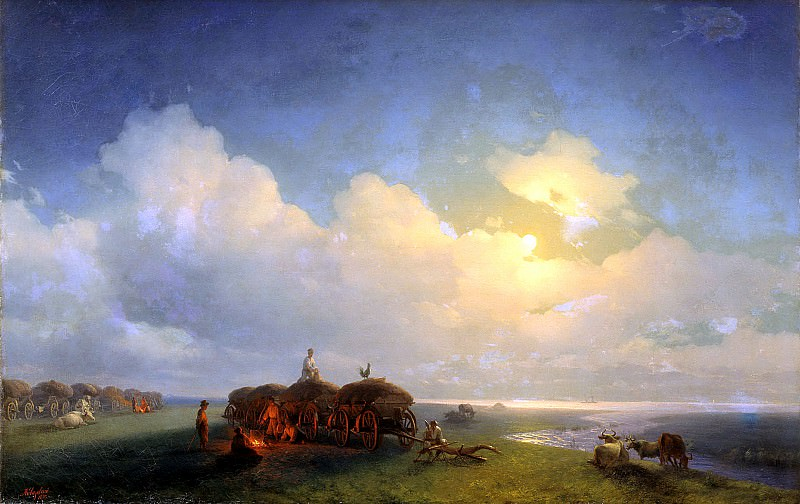 Ivan Aivazovsky - Chumaky on vacation. 900 Classic russian paintings