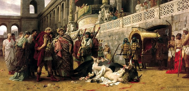 Semiradsky Henry - Christian Dirtseya the Circus of Nero. 900 Classic russian paintings