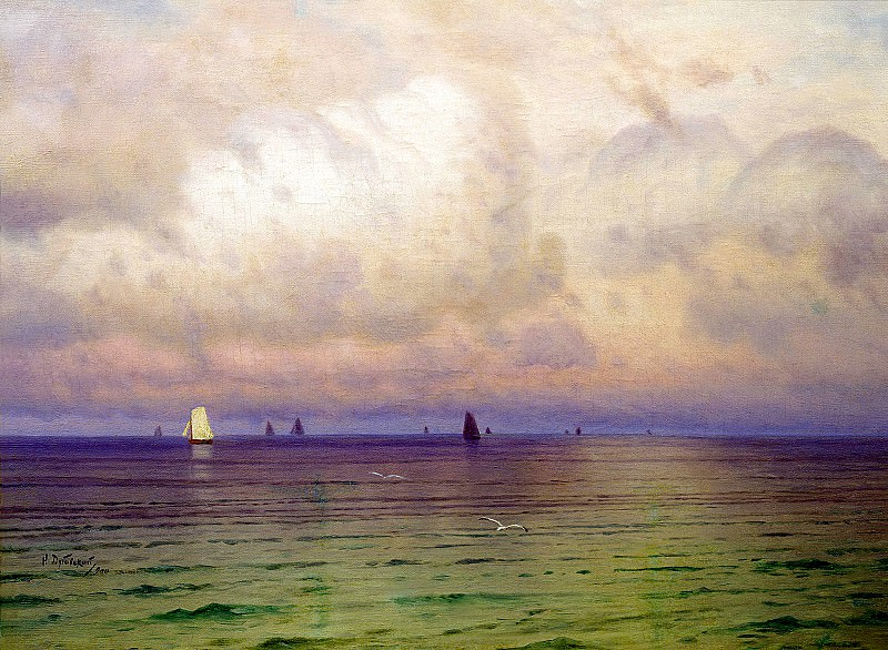 DUBOVSKAYA Nicholas - Sea. Sailboats. 900 Classic russian paintings