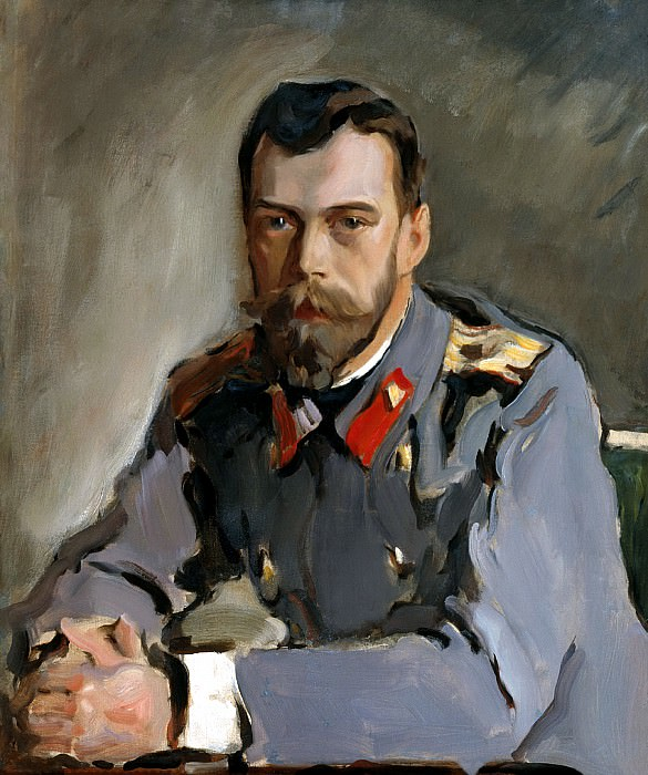 Valentin Serov - Portrait of Nicholas II. 900 Classic russian paintings