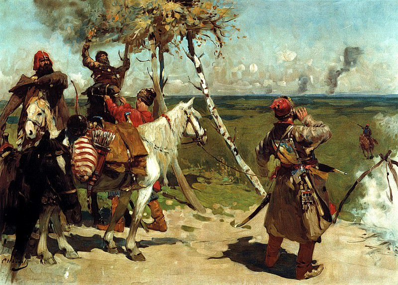 Ivan Sergei - The border patrol Moscow. 900 Classic russian paintings