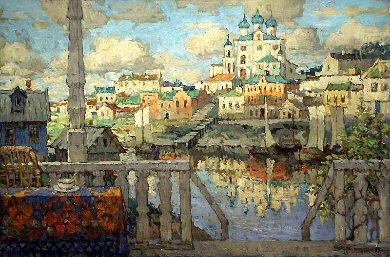 Gorbatov Constantine - Pskov. 1915. 900 Classic russian paintings