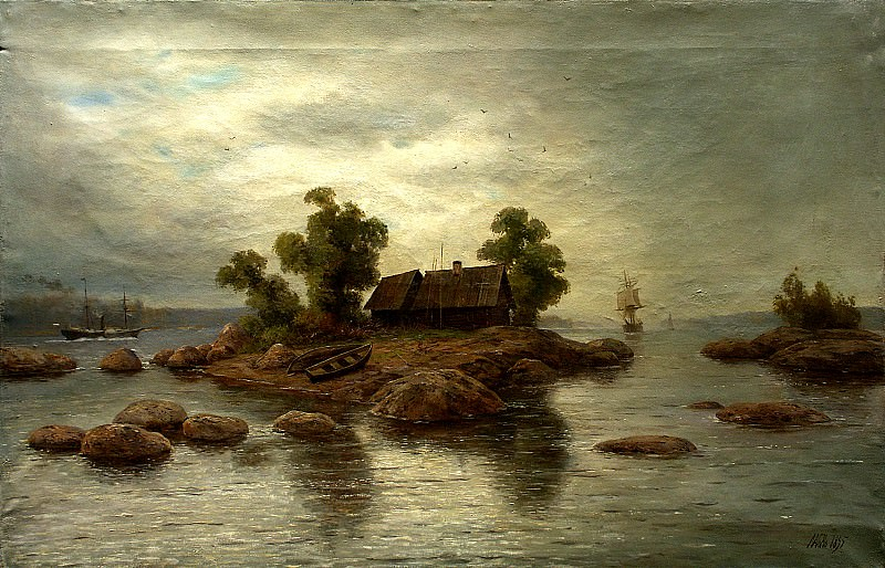 Lagorio Lev - Farm Island. 900 Classic russian paintings