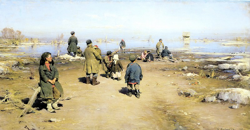 ARKHIPOV Abram - Ice passed. 900 Classic russian paintings