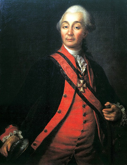 Levitsky Dmitry - Portrait of Suvorov. 900 Classic russian paintings