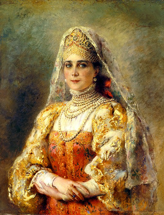 MAKOVSKY Constantin - Portrait ZI Yusupova. 900 Classic russian paintings