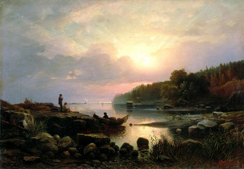 Ginet Alexander - Finnish landscape. 900 Classic russian paintings