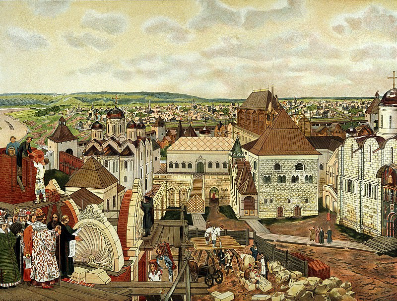 Vasnetsov Apollinary - The Moscow Kremlin. 900 Classic russian paintings