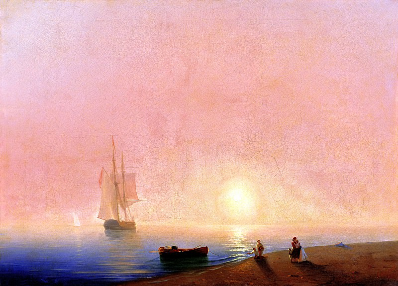 Ivan Aivazovsky - Farewell. 900 Classic russian paintings
