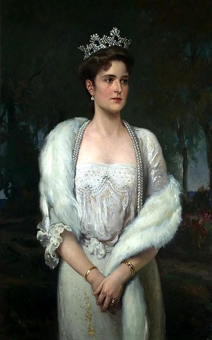 MAKOVSKY Alexander - Portrait of Empress Alexandra Feodorovna. 900 Classic russian paintings