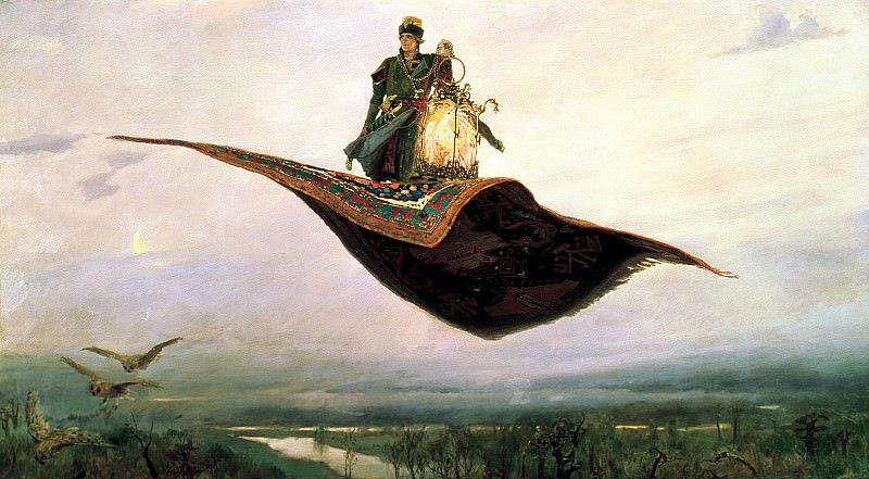 Viktor Vasnetsov - Magic Carpet. 900 Classic russian paintings