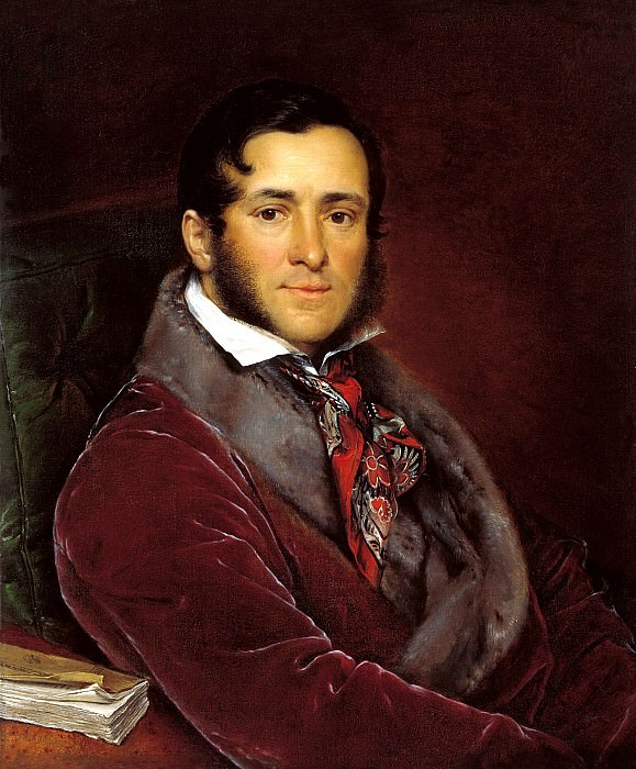 Tropinin Vasily - Portrait Yegorov Mosolov. 1836. 900 Classic russian paintings
