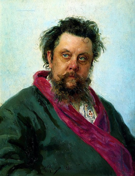 Ilya Repin - Portrait of Mussorgsky. 900 Classic russian paintings