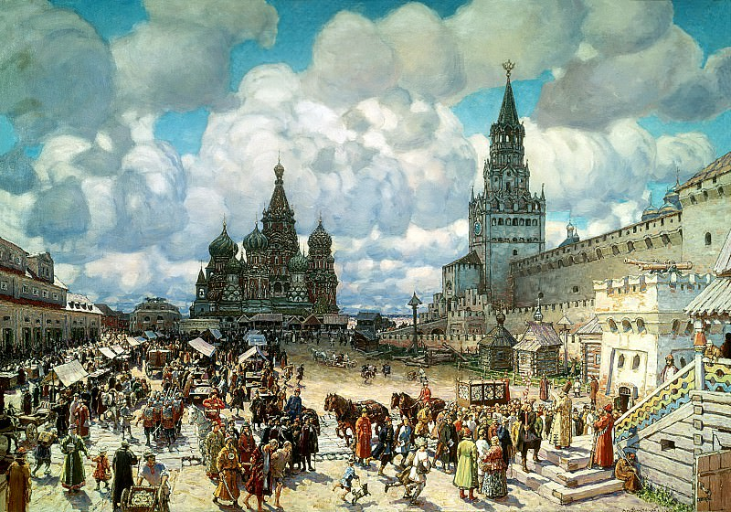 ВАСНЕЦОВ Аполлинарий - Красная площадь. 900 Картин самых известных русских художников