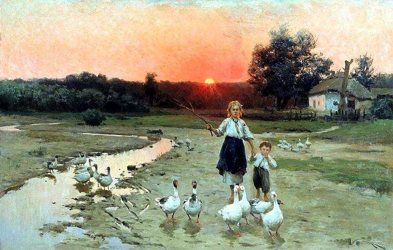 Pimonenko Nick - Evening. 900 Classic russian paintings