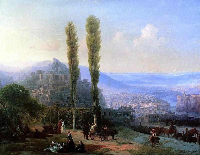 Aivazovsky, Ivan - View of Tiflis. 1869. 900 Classic russian paintings