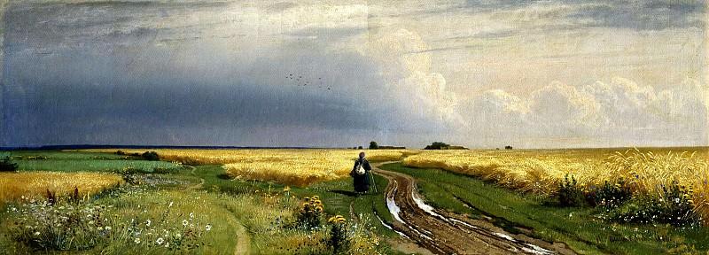 Shishkin Ivan - The road in the Rye. 900 Classic russian paintings