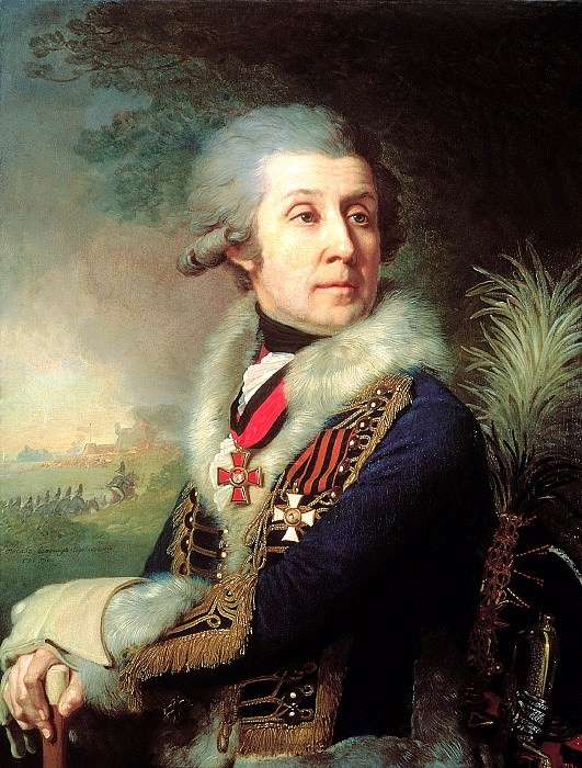 Borovikovsky Vladimir - Portrait of Major-General Fedor Artemyevitch Borowski. 900 Classic russian paintings