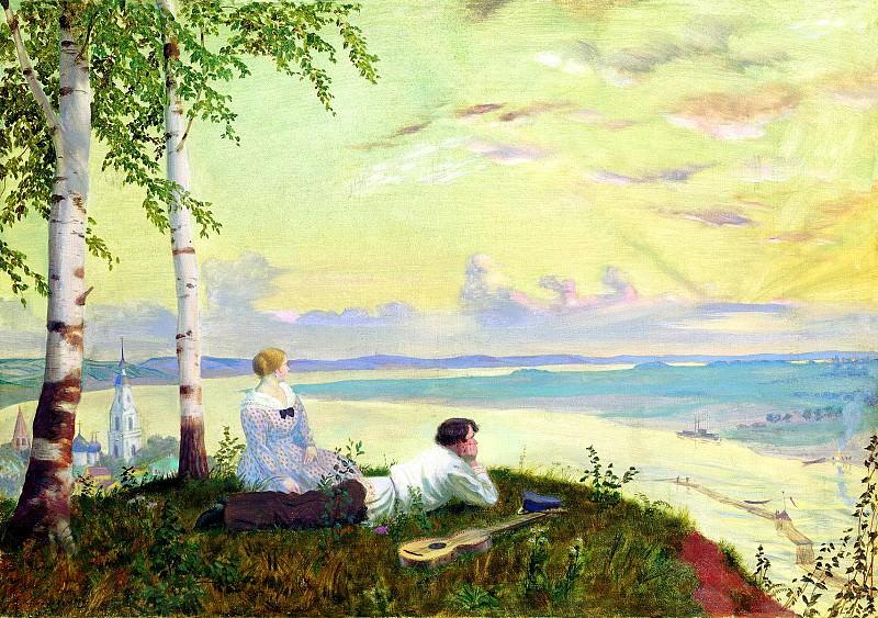 Kustodiev Boris - The Volga. 1922. 900 Classic russian paintings