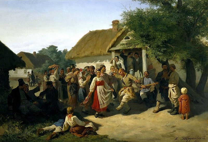 Trutovsky Constantin - Round Dance in the Kursk province. 900 Classic russian paintings