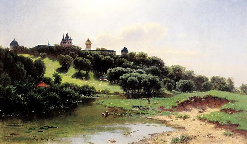 КАМЕНЕВ Лев - Саввино-Сторожевский монастырь под Звенигородом. 900 Картин самых известных русских художников