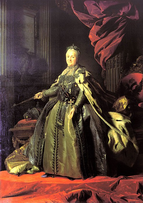 Roslin Alexander - Portrait of Catherine II. 900 Classic russian paintings