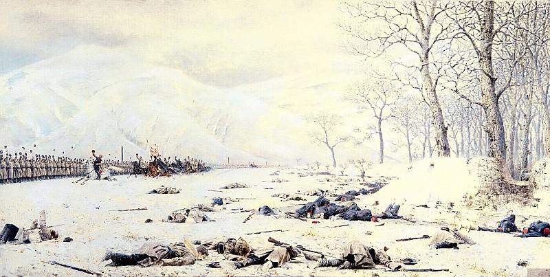 Vereshchagin Vasily (Vasilyevich) - Shipka Sheinovo. Skobelev under Shipkov. 900 Classic russian paintings