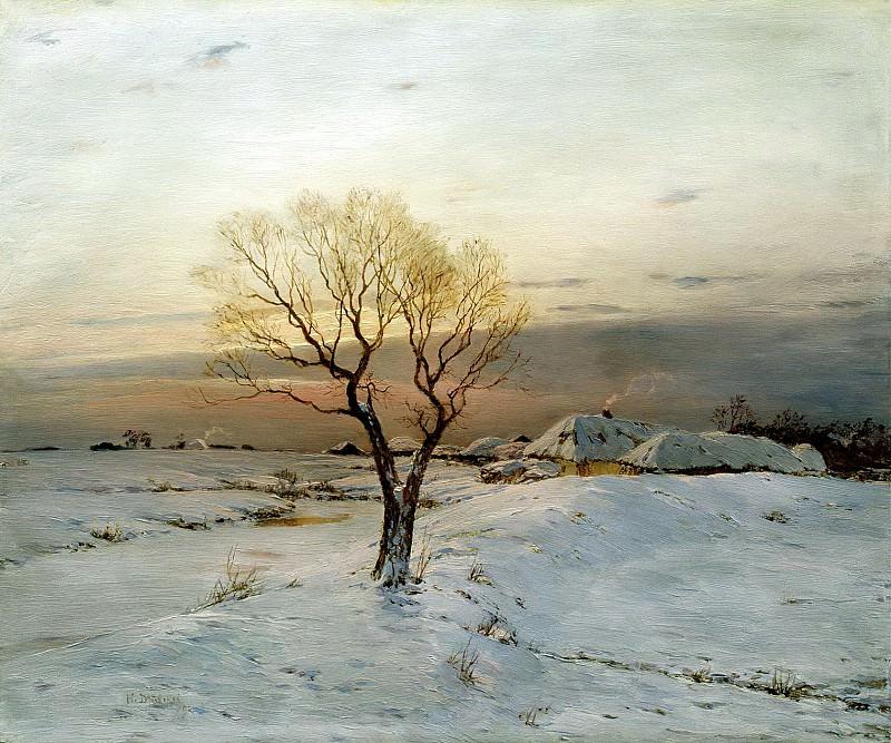 DUBOVSKAYA Nick - Frosty Morning. 900 Classic russian paintings