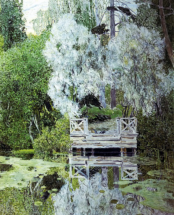 GOLOVIN Alexander - willows. 900 Classic russian paintings