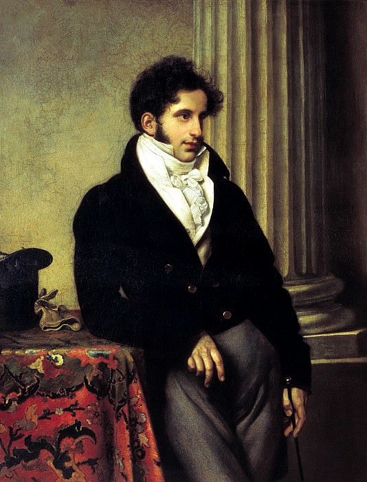 Kiprensky Orestes - Portrait of Sergei Semenovich Uvarov. 1816. 900 Classic russian paintings