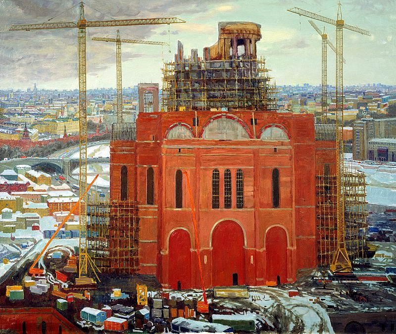 Oksana PAVLOVA - Construction of the Cathedral of Christ the Savior. 900 Classic russian paintings
