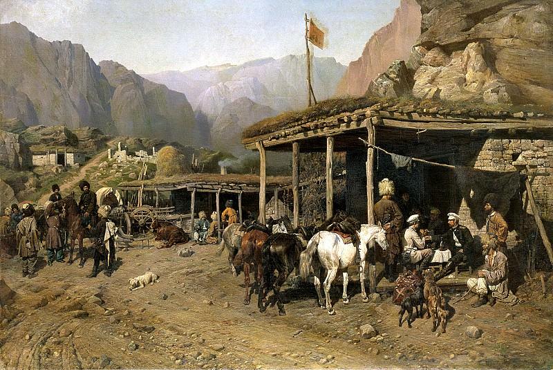 KOWALEWSKI Paul - Halt cavalry. 900 Classic russian paintings