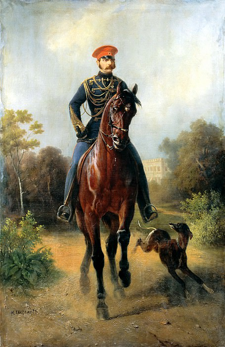 Sverchkov Nikolai - Portrait of Alexander II. 900 Classic russian paintings