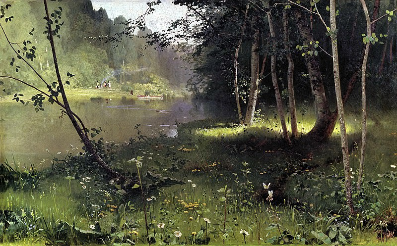 DUBOVSKAYA Nick - River Forest. 900 Classic russian paintings