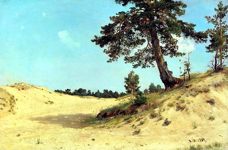 Shishkin Ivan - pine on sand. 900 Classic russian paintings