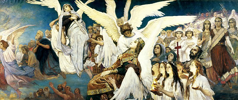 Viktor Vasnetsov - Joy of the Lord, the righteous (right). 900 Classic russian paintings