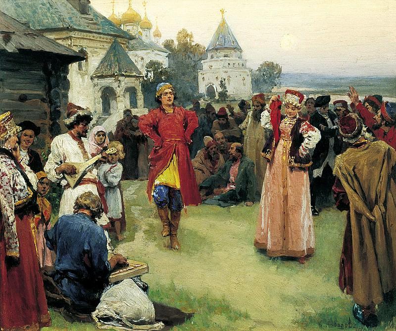 LEBEDEV Claudius - Dance. 900 Classic russian paintings