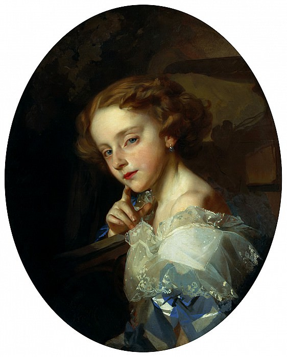 MAKAROV Ivan - Portrait of a Girl. 900 Classic russian paintings