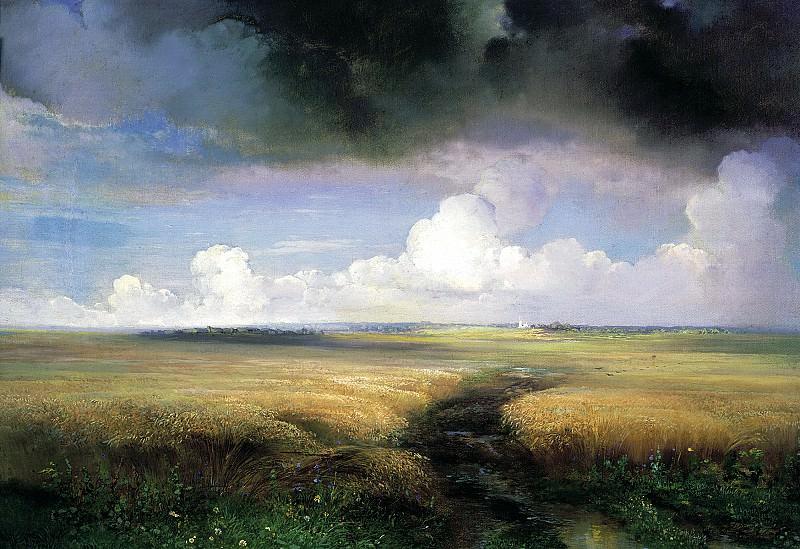 Alexei Savrasov - Rye. 900 Classic russian paintings