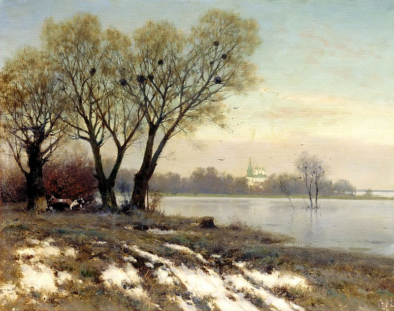 Kryzhitsky Constantine - Early Spring. 900 Classic russian paintings