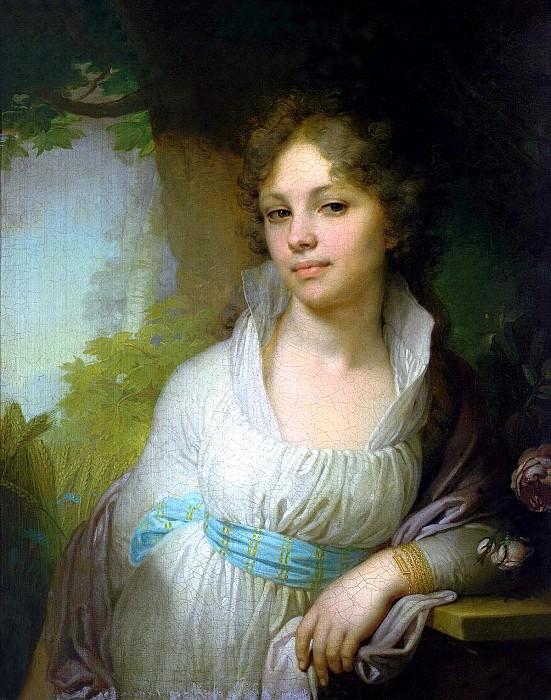 Borovikovsky Vladimir - Portrait of Maria Ivanovna Lopukhina. 900 Classic russian paintings