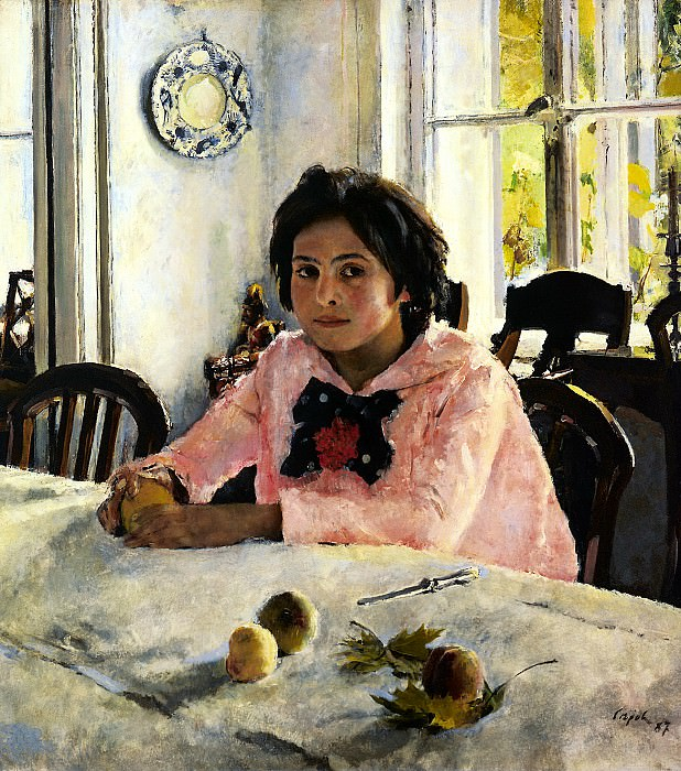 Valentin Serov - Girl with Peaches. 900 Classic russian paintings