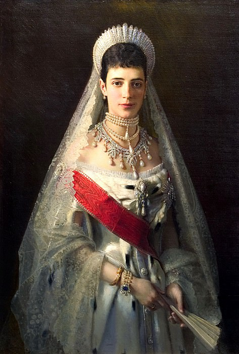 Kramskoy Ivan - Portrait of Empress Maria Feodorovna. 900 Classic russian paintings